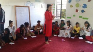 Our Ex-Volunteer Kunsang during her class