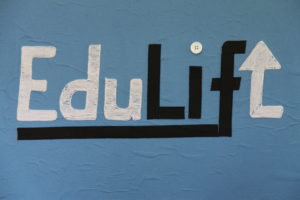 EduLift Logo made with threads
