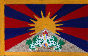 Tibetan Flag made with woollen threads