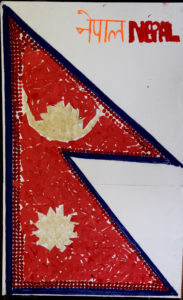 Nepali Flag made with Tika